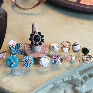 Bundle of costume rings - most adjustable